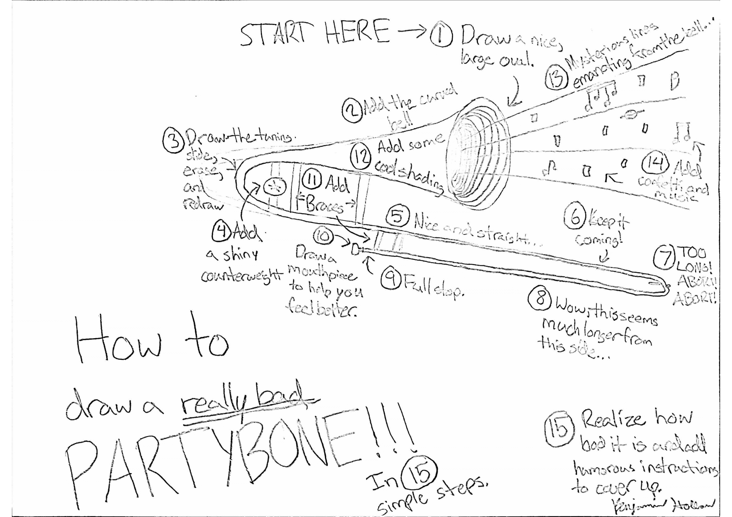 How to Draw a Really Bad Partybone